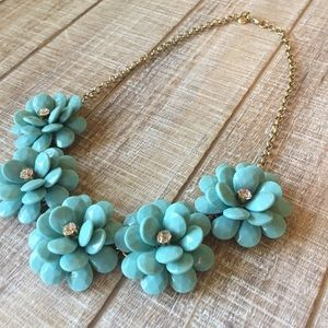 J.Crew teal flower necklace
